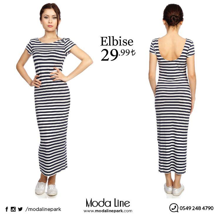 Çizgili Penye #Elbise şimdi Modalinepark'ta  Ürüne ulaşmak için : http://goo.gl/tLf3vd Online alışveriş yapmak için : www.modalinepark.com