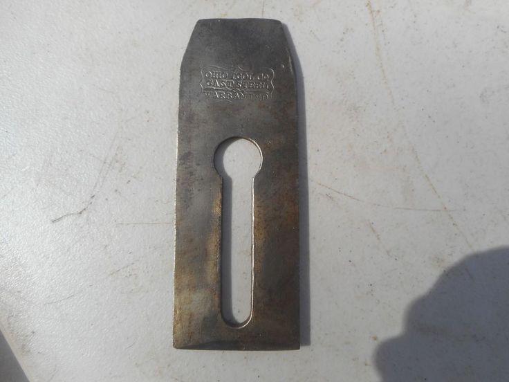 "Antique Wood Plane Ohio Tool Co. 2"" Blade Cast Steel"