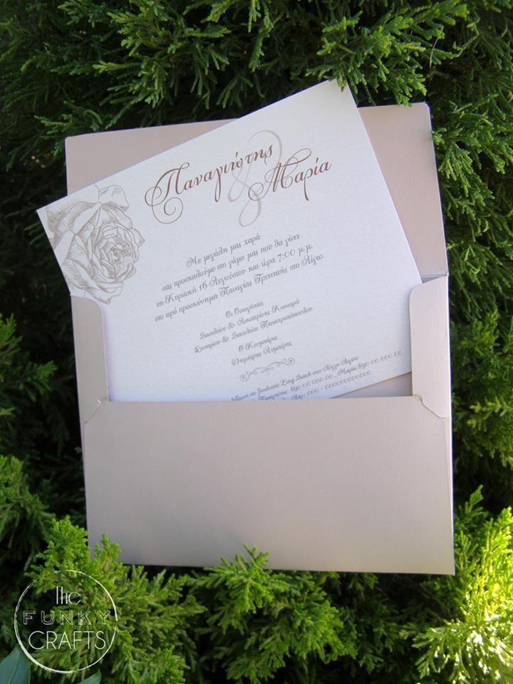 wedding invitation, classic, προσκλητήριο γάμου, thefunkycrafts.com