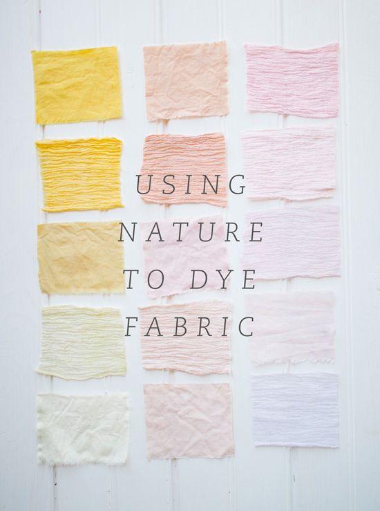 Using nature to dye fabric