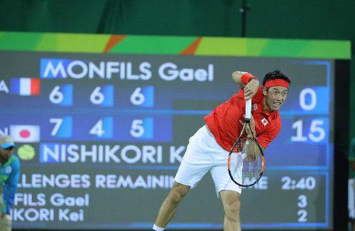 男子テニス準々決勝、フルセットの末勝利した錦織圭 - リオオリンピック特集 - Yahoo! JAPAN