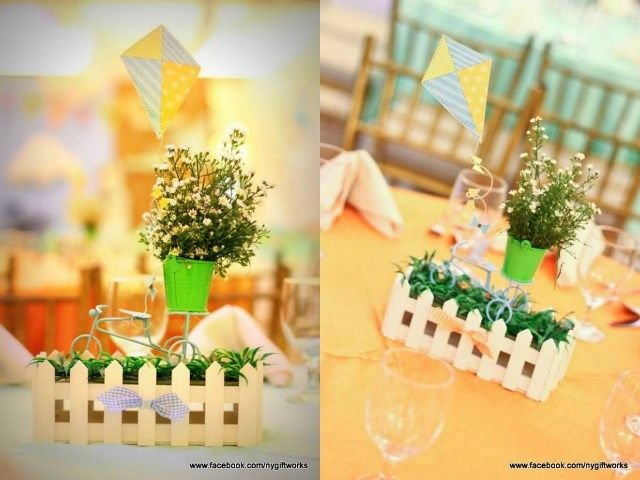 Pio s kite themed party centerpiece march flowers