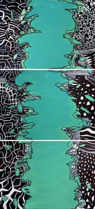 Buy Green River, Mixed Media painting by Riccardo Ticco Capparella on Artfinder…