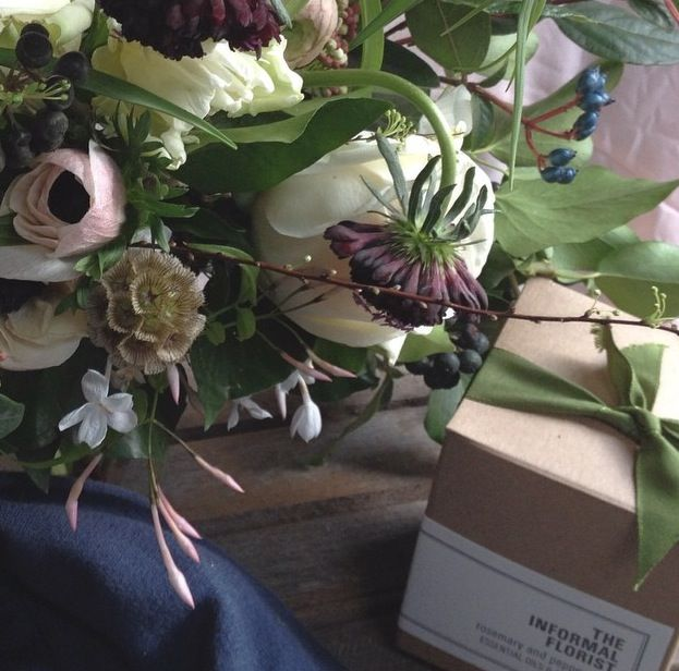 Flowers & Soy Candle by The Informal Florist