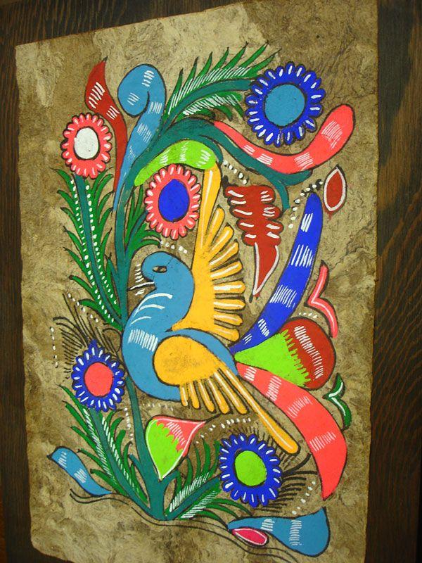 Fayston Elementary Art: Mexican Folk Art: Amate Painting