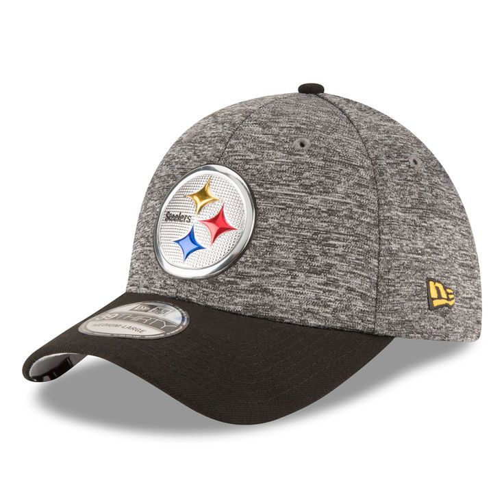 Pittsburgh Steelers New Era Youth Draft 39THIRTY Flex Hat - Heather Gray - $27.99