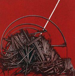 Emilio Scanavino (Italian, 1922-1986), La trappola [The Trap], 1979. Oil on canvas, 60 x 60 cm.