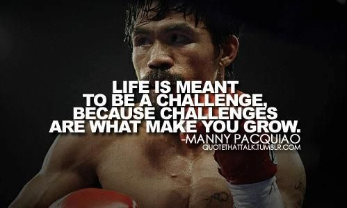 Manny Pacquiao...one of my favorite boxers!! I respect this man because he is humble, caring and kind and a follower of Christ.