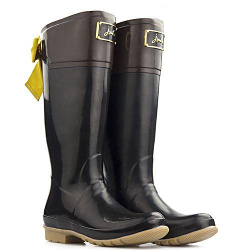 Joules regenlaarzen Womens Premium Welly zwart