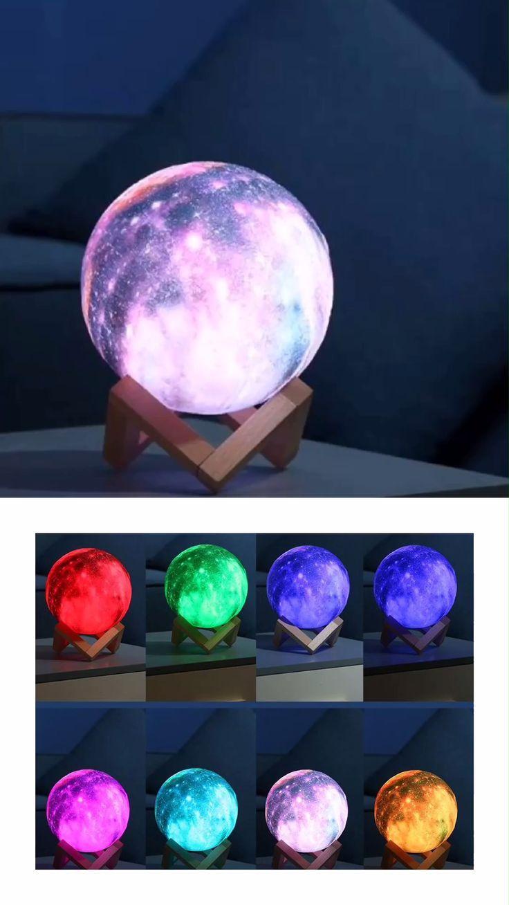 3d Star Moon Lamp Colorful Galaxy Galaxy Bedroom Galaxy Room Girls Room Decor