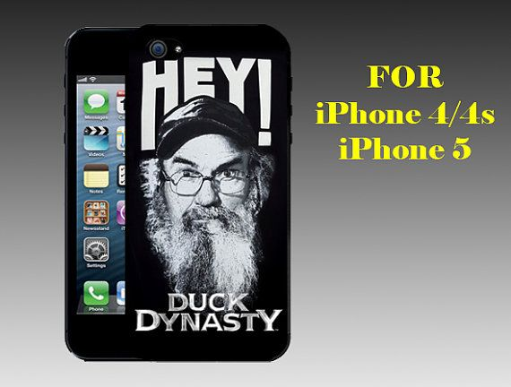 Hey Si Robertson - Print on Hard Cover iPhone 5 Black Case - iPhone 4/4s Case - Please Leave a Note For the Type Case and Color Case