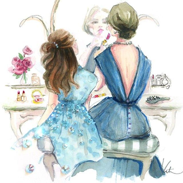 время был картинки фэшн иллюстрации мама и дочь государства