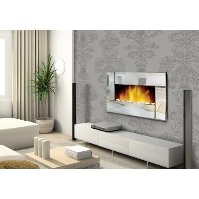 Even Glow   Even Glow Reflections 36 Inch Horizontal Wall Mounted Electric  Fireplace With Remote Control  Wall Electric Fireplace