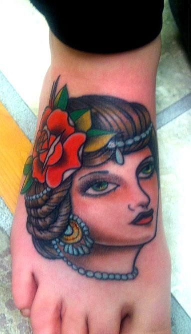 17 best images about old school gypsy face front on for Beauty mark tattoo