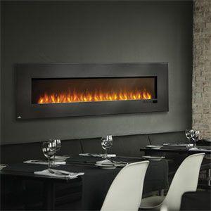 "Napoleon 72-Inch Slimline Black Wall Mount Electric Fireplace - EFL72H 60""W - adjustable LED flames"