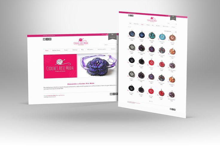 """Diseño y maquetación del sitio web """"Crochet Arte Moda""""."""
