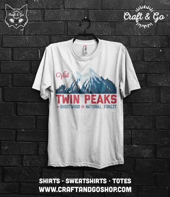 Visit Twin Peaks Shirt (agent cooper black lodge fire walk with me horror log lady owl)  If you're going to buy more than 3 t-shirts / totes please