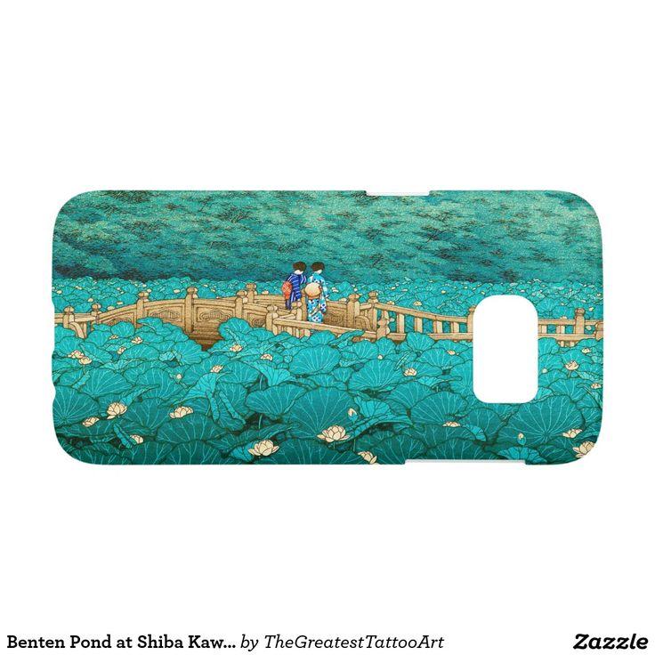 Benten Pond at Shiba Kawase Hasui japanese scenery Samsung Galaxy S7 Case