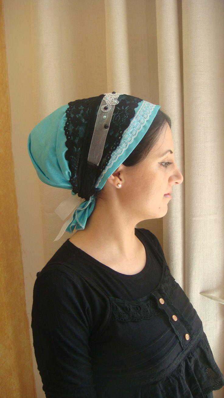 Elegant & comfi cotton tichel headscarf unique by oshratDesignz, $45.36