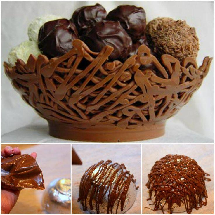 Edible Chocolate Bowls                                                                                                                                                      More