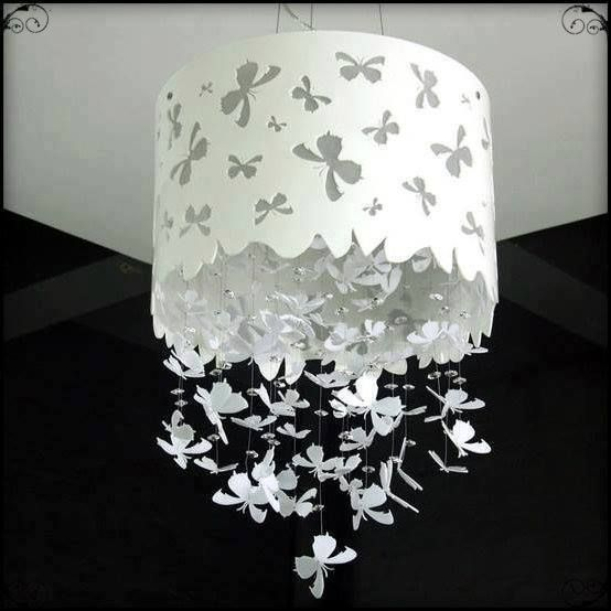 221 best lamps images on pinterest architecture chandelier and creative and awesome do it yourself project ideas would make butterflies instead of bows aloadofball Images