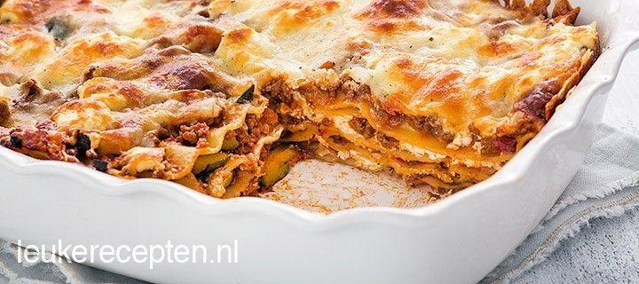 Lasagne met pittig gehakt
