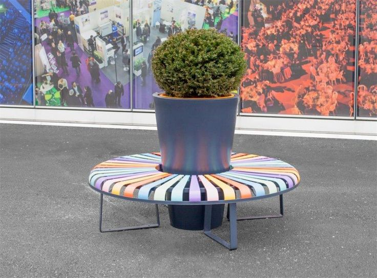 colorful bench for the cities atech - www.atech-pl.eu