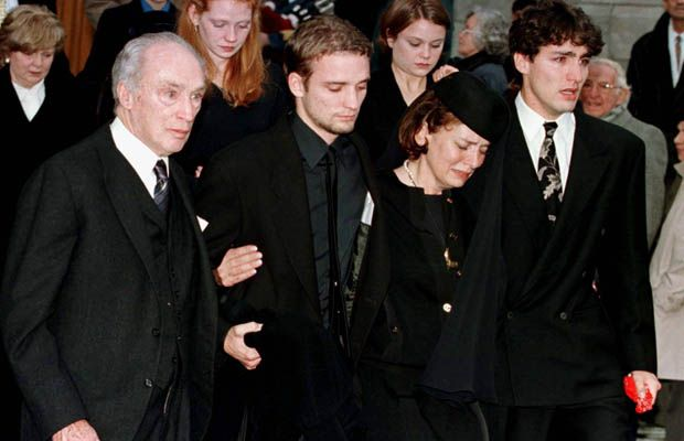 Michel Trudeau funeral.  Pierre Trudeau, Son Sacha. Former Wife Margaret and…