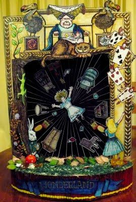 Alice in Wonderland Toy Theatre Scene EnchantéSoirée: http://enchantesoiree.blogspot.com/2009/10/alice-in-wonderland-toy-theatre-scene.html