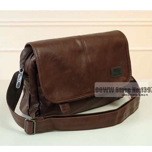 Men's Leather Crossbody Messenger Bag