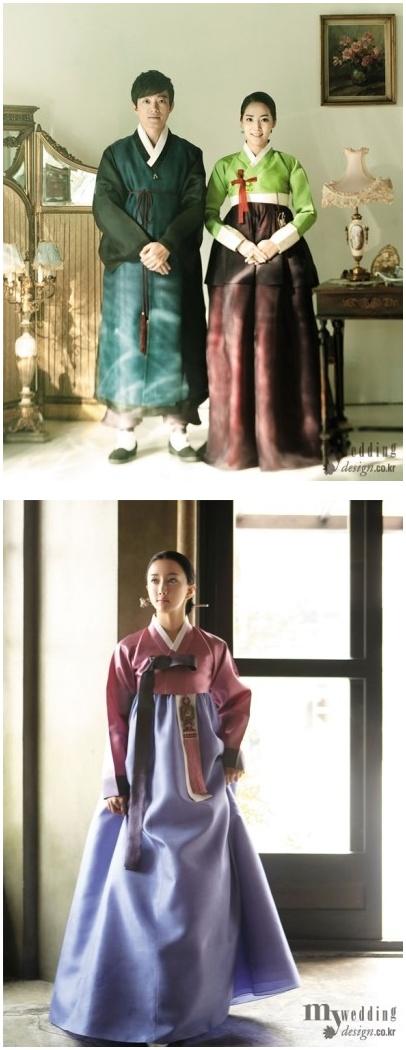 in Korean dress hanbok 3