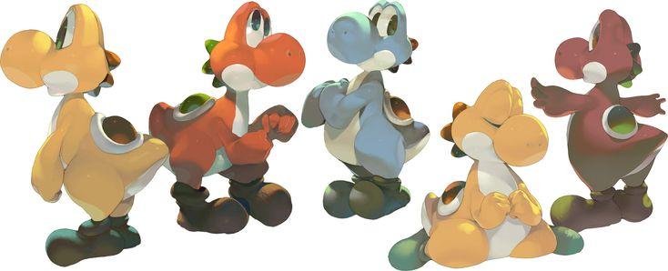 Yoshi Character Design : Art by ちゃん koki website http pixiv