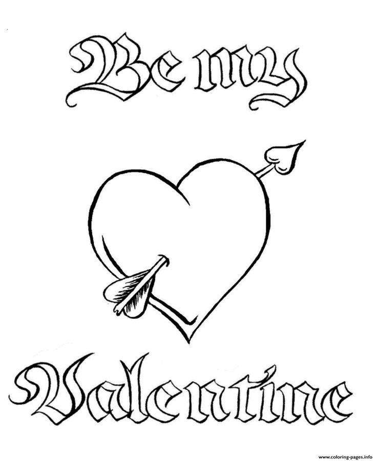 Free Valentine Hearts Coloring Page