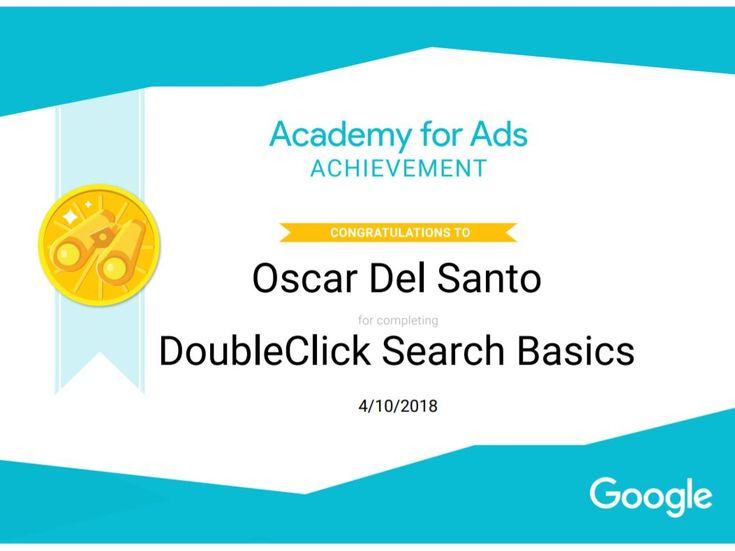 Google Academy Doubleclick Search Basics, 10/4/2018