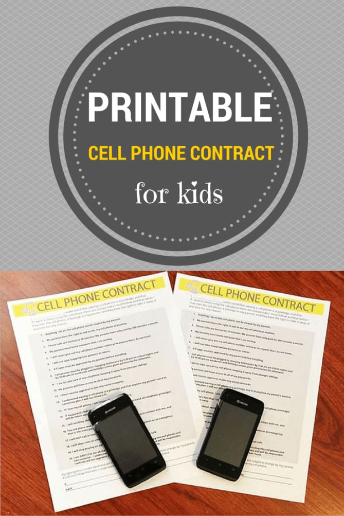 Cell Phone Contract for Kids - Digital Mom Blog