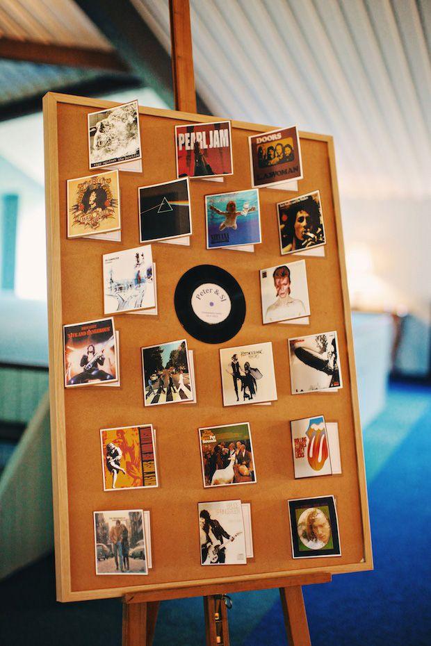 Un'idea super originale per voi amanti della musica: un #tableau de #mariage a tema! http://goo.gl/orDKo0
