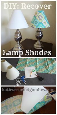 Recovering Lamp Shades Tutorial..I have a lamp shade that needs some tlc for the nursery