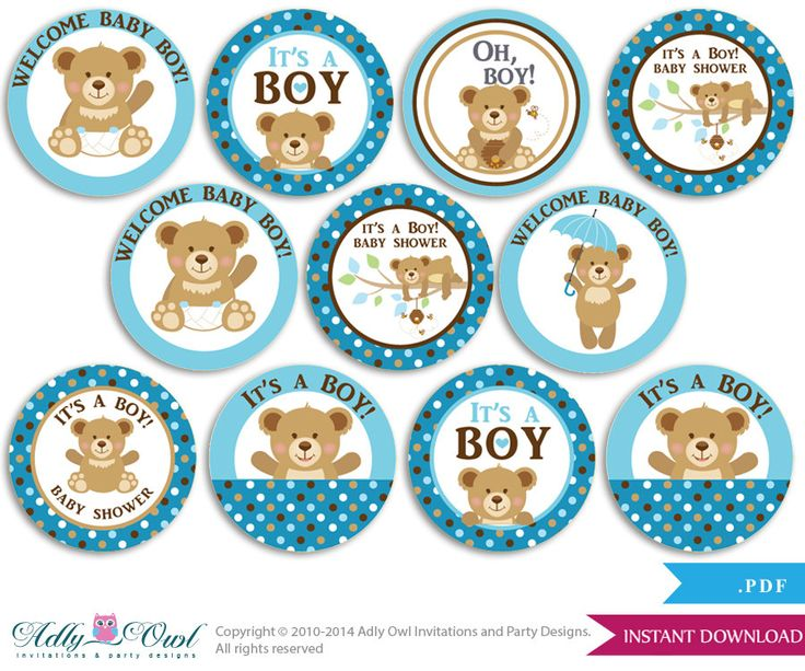 baby shower teddy bear printables - Buscar con Google