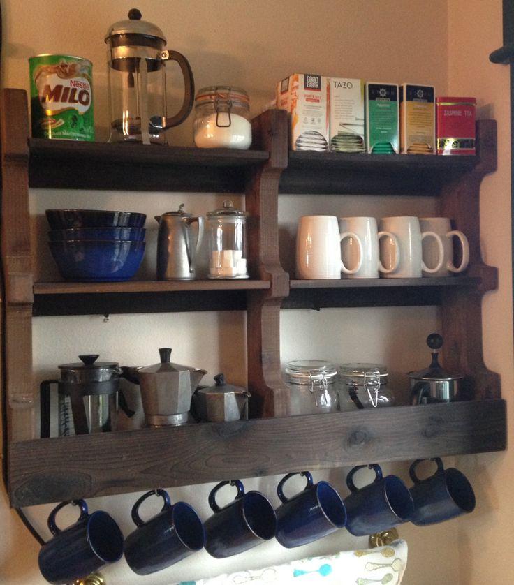 Large Coffee & Tea Rack by MayFamilyCustom on Etsy