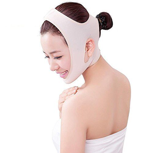 Luismia New Version Antiaging Wrinkle Free Beauty VLine Chin Neck Facial Skin Lift Up Belt Mask  Flesh Color  Large -- Details can be found by clicking on the image. (Note:Amazon affiliate link)