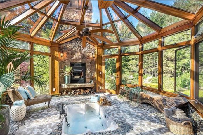 A Place To Relax The Wellness Room Hot Tub Room Indoor Hot Tub Hot Tub Outdoor