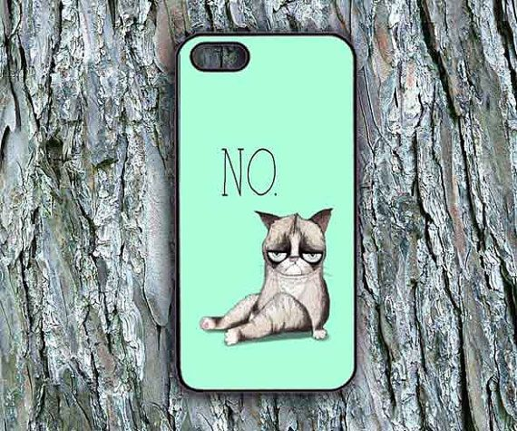 Mon chat grincheux ipod 4/5 cas de l'iPhone 4/4 s/5/5 par LuLu8315, $14.99