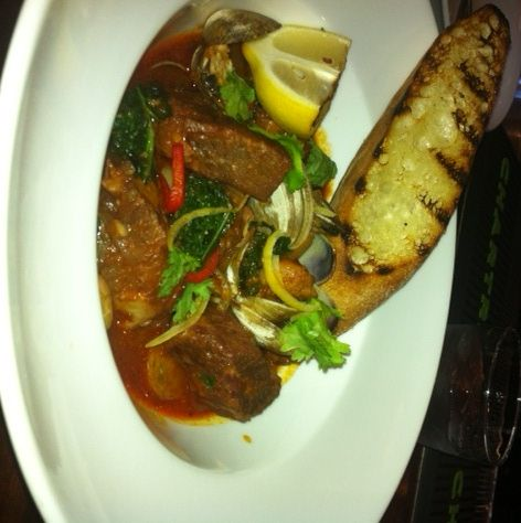 New Fall Menus featuring:   Alentejo Style Pork with Clams,  $23.00  http://magnoliahotel.com/dining/
