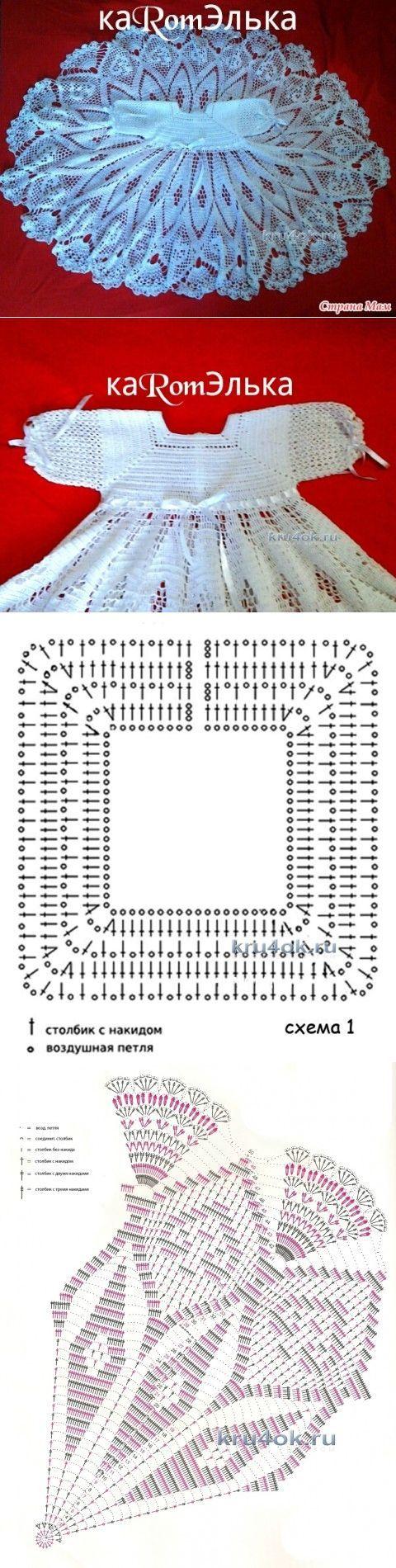 Детское платье крючком — работа кaRomЭлькa - вязание крючком на kru4ok.ru