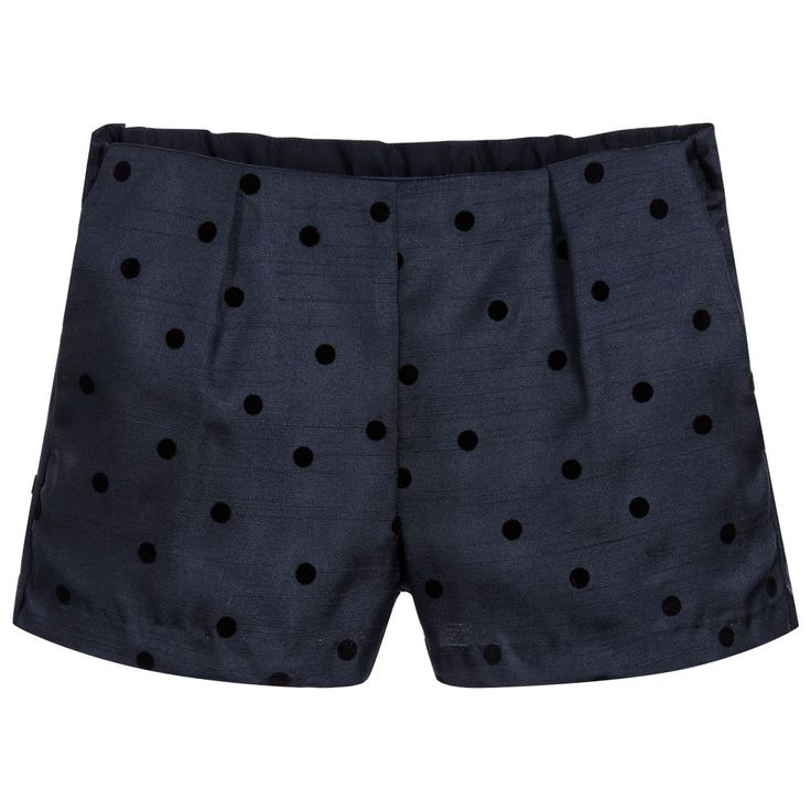 Hucklebones London Girls Spotted Blue Shorts at Childrensalon.com