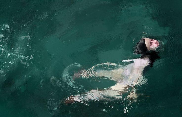 Lukisan perenang kesepian yg dahsyat ! | wisbenbae