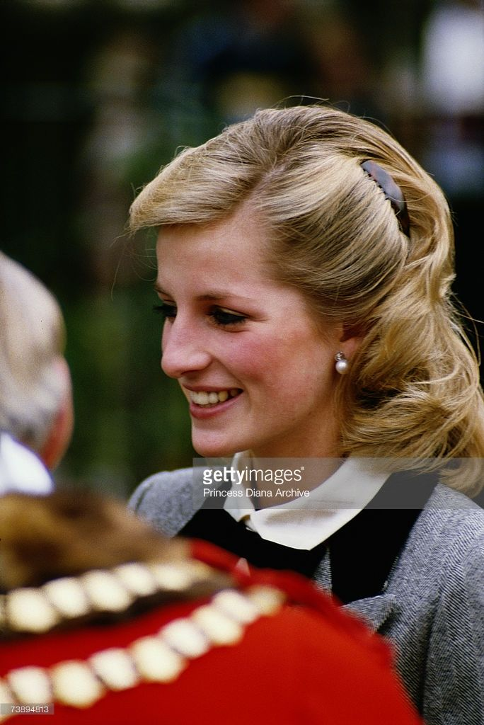 Princess Diana talking to a mayor during a visit to Newham in London,... News Photo | Getty Images