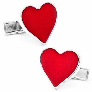 Palladium Heart CufflinksValentine Red, Palladium Heart, Holiday Cufflinks, Gift Ideas, Based Metals, Enamels Heart, Palladium Plates, Heart Cufflinks, Cufflinks Men