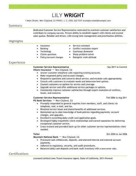 2018 Customer Service 4-Resume Examples Customer service resume