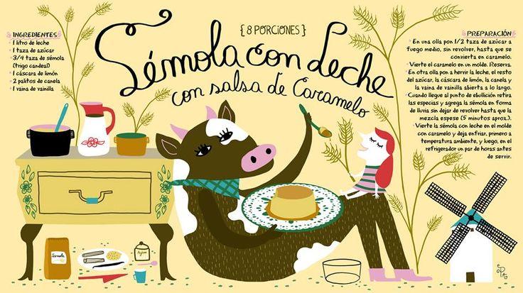 Cositas Ricas Ilustradas por Pati Aguilera: Sémola con leche